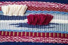 Сплетенная предпосылка текстуры ткани Стоковые Изображения RF