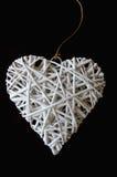 Сплетенная древесина в форме сердца Стоковая Фотография