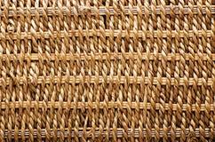Сплетенная текстура корзины Текстурированная корзина сделанная естественного волокна как a Стоковые Изображения RF