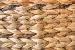 Сплетенная текстура плетеной корзины Стоковые Фото