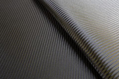 Сплетенная чернотой текстура волокна углерода Стоковое фото RF