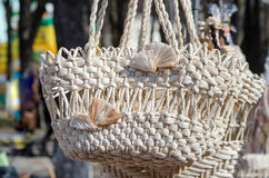 Сплетенные корзины handmade Стоковое Изображение