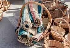 Сплетенные корзины handmade Стоковые Фото