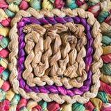 Сплетенные солома и красочный Стоковая Фотография RF