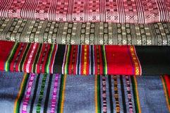 Сплетенные ткани пряжи от Лаоса Стоковая Фотография