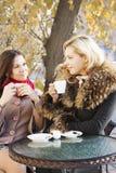 Сплетня и кофе подруг Стоковая Фотография