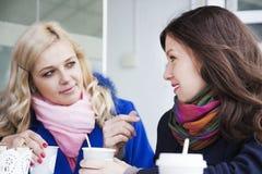 Сплетня и кофе подруг Стоковые Фотографии RF