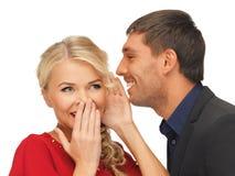 Сплетня человека и женщины распространяя Стоковое Изображение