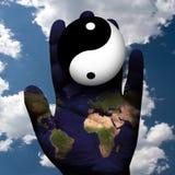 Сработанность мира yin yang бесплатная иллюстрация