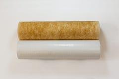 Сравнение новых и используемых водяных фильтров Стоковая Фотография