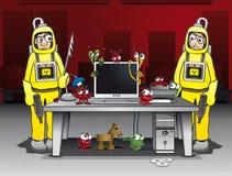 Сражая вирусы компьютера и троянские лошади Стоковые Фотографии RF