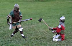 сражая рыцари Стоковое Фото
