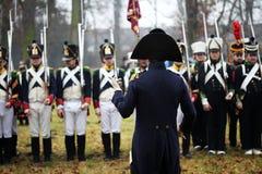 Сражение Аустерлица, также известное как сражение 3 императоров, было одной из побед Наполеона больших, где Fren стоковое изображение rf