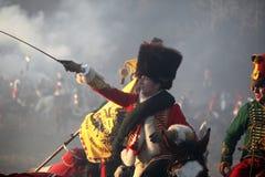 Сражение Аустерлица, также известное как сражение 3 императоров, было одной из побед Наполеона больших, где Fren Стоковые Фото