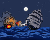 сражение военноморское Стоковая Фотография