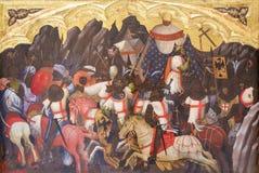 Сражение между крестоносцами и Saracens стоковое изображение rf