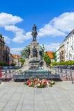 Сражение памятника Grunwald в Кракове Стоковые Фотографии RF