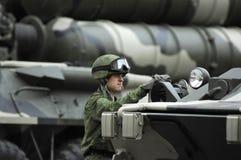 сражение показывая оружие Стоковая Фотография RF
