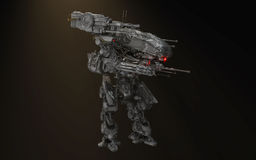 Сражение робота mech иллюстрация вектора