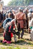 Сражение славянин и Викингов Стоковая Фотография