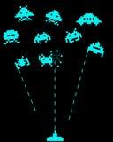 Сражение с оккупантами космоса Стоковые Фотографии RF