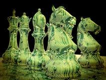 Сражение шахмат Стоковые Изображения