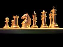 Сражение шахмат Стоковое Фото