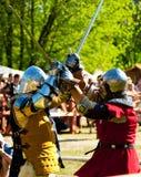сражение knights средневековое Стоковое Изображение RF