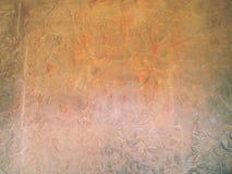 Сражение Kurukshetra предмет этого барельеф на Angkor Wat Стоковые Фотографии RF