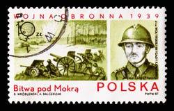 Сражение Mokra, Col Джулиан Filipowicz, нашествие seri Польши стоковое изображение rf