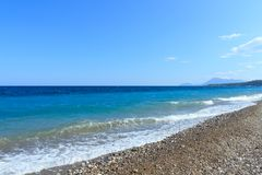 Средиземное море с водой бирюзы в Kemer Стоковое Изображение RF