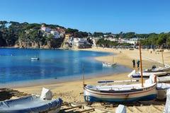 Средиземное море Seascape в Косте Brava в Каталонии, Испании Стоковое Фото