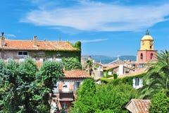 Средиземное море St Tropez Франции ландшафта стоковые изображения rf