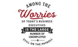 Среди беспокойства ` s сегодня руководители бизнеса большое количество иллюстрация штока