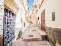 Среди переулков Vieste, Gargano, Апулия стоковое изображение