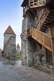 Средневековая башня, часть городской стены, Таллин, Эстония стоковая фотография rf