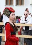 Средневековая девушка Стоковая Фотография