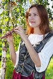 средневековая женщина Стоковое Изображение