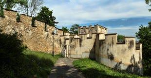 Средневековая защитительная стена Стоковые Изображения RF