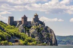 Средневековая крепость в Golubac, Сербии Стоковая Фотография