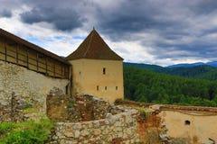 Средневековая крепость Трансильвания Румыния городка Râșnov стоковое изображение rf