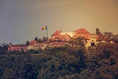 Средневековая крепость Brasov стоковая фотография rf