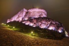 Средневековая крепость Deva в Европе, Румынии Стоковые Фото