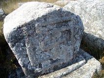 Средневековая надгробная плита Стоковые Изображения
