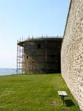 средневековая стена Стоковые Изображения RF
