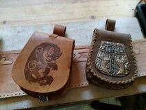 средневековая сумка пояса стоковая фотография