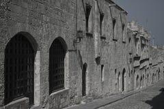 средневековая улица Стоковые Изображения RF