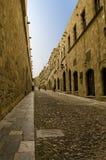 средневековая улица стоковое фото