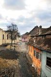 средневековая улица стоковая фотография rf