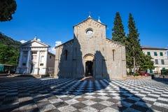 Средневековая церковь San Siro di Struppa Генуи, Италии, католической святыни стоковые фото